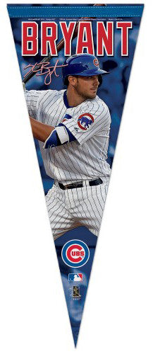 "Kris Bryant ""Signature Series"" Chicago Cubs Premium Felt Collector's Pennant - Wincraft Inc."