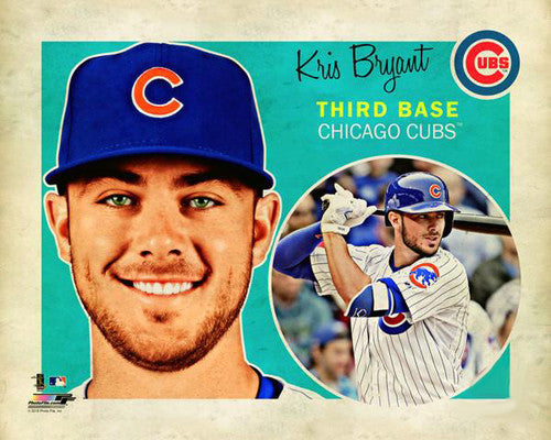 "Kris Bryant ""Retro SuperCard"" Chicago Cubs Premium Poster Print - Photofile 16x20"