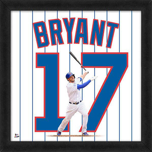 "Kris Bryant ""Number 17"" Chicago Cubs FRAMED 20x20 UNIFRAME PRINT - Photofile"