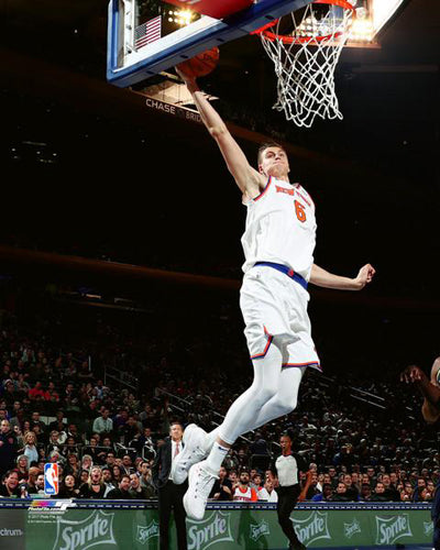 "Kristaps Porzingis ""Superstar"" New York Knicks Premium NBA Poster Print - Photofile 16x20"