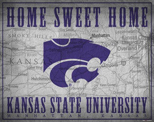 "Kansas State Wildcats ""Home Sweet Home"" Poster Print - ProGraphs Inc."
