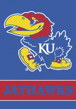 "Kansas Jayhawks ""Baby Jay"" Wall Scroll Banner - BSI Products"