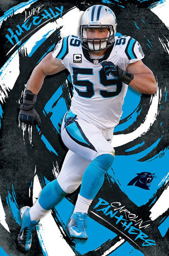 "Luke Kuechly ""Whirlwind"" Carolina Panthers Superstar Linebacker NFL Poster - Trends 2016"