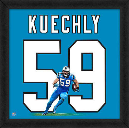 "Luke Kuechly ""Number 59"" Carolina Panthers FRAMED 20x20 UNIFRAME PRINT - Photofile"