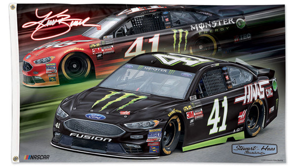 Kurt Busch NASCAR #41 Haas Monster Energy Ford Fusion Huge 3' x 5' Banner DELUXE Flag - Wincraft