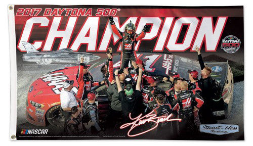 Kurt Busch 2017 Daytona 500 Champion Official NASCAR Deluxe-Edition 3'x5' Flag - Wincraft