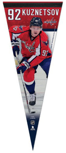 "Evgeny Kuznetsov ""Superstar"" Washington Capitals Official NHL Premium Felt Collector's Pennant"