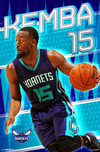 "Kemba Walker ""Superstar"" Charlotte Hornets NBA Action Wall Poster - Trends International 2016"