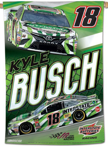 Kyle Busch NASCAR Interstate Batteries #18 Premium 28x40 WALL BANNER - Wincraft Inc.