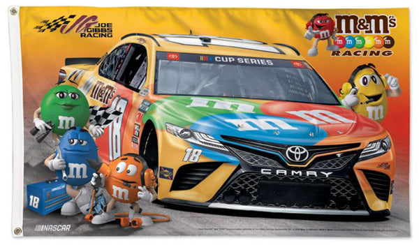 Kyle Busch M&Ms #18 Official NASCAR Deluxe-Edition 3'x5' Banner Flag - Wincraft 2020