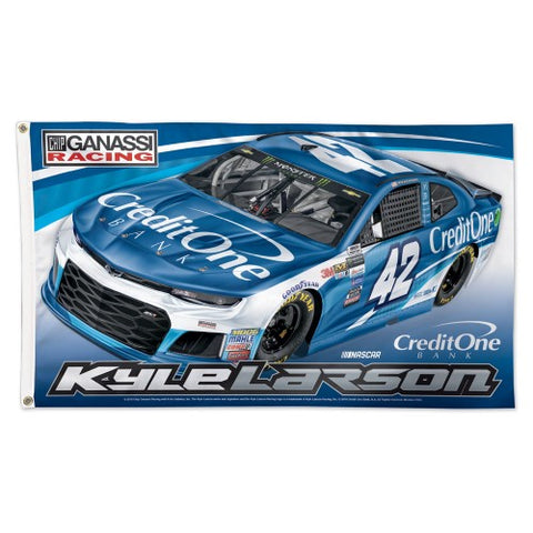 Kyle Larson NASCAR #42 Capital One Chevrolet Official HUGE 3'x5' Commemorative Flag - Wincraft 2018