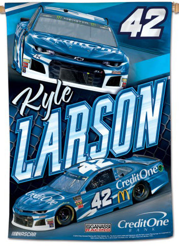 Kyle Larson NASCAR Credit One #42 (2019) Premium 28x40 WALL BANNER - Wincraft Inc.