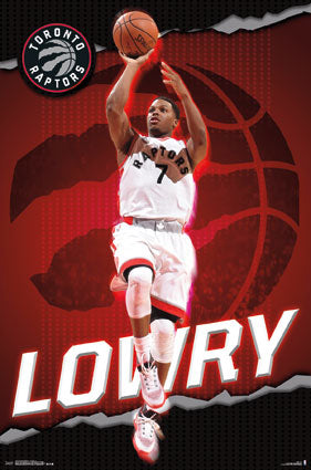 "Kyle Lowry ""Superstar"" Toronto Raptors NBA Basketball Action Poster - Trends 2016"