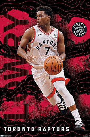 "Kyle Lowry ""Leader"" Toronto Raptors NBA Basketball Action Poster - Trends International"