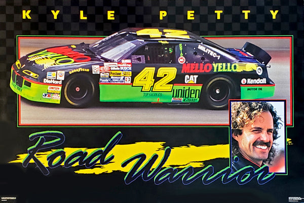"Kyle Petty ""Road Warrior"" Classic NASCAR Vintage Original Racing Superstar Poster - Costacos Brothers 1994"