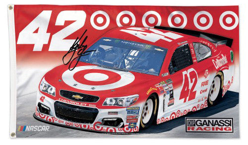 Kyle Larson NASCAR #42 Target Official HUGE 3'x5' Commemorative Flag - Wincraft