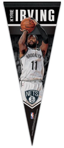 "Kyrie Irving ""Signature"" Brooklyn Nets NBA Premium Felt Collector's Pennant - Wincraft 2019"