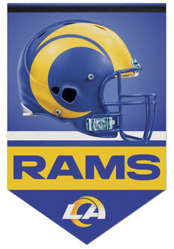 Los Angeles Rams Official NFL Football Team Premium Felt Banner - Wincraft Inc. 2020