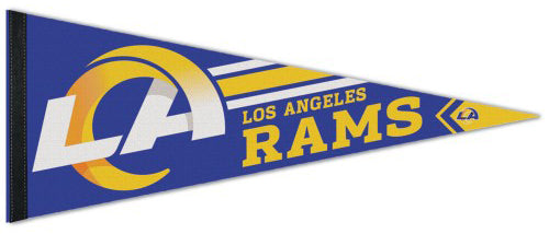 Los Angeles Rams Official NFL Football Team Logo Premium Felt Pennant - Wincraft Inc.