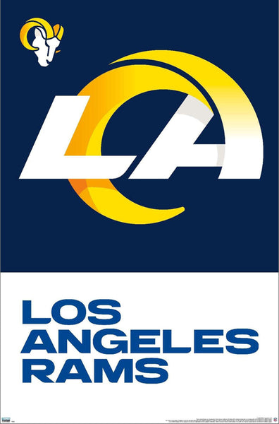 Los Angeles Rams NFL Football Official Team Logo Poster - Trends 2020