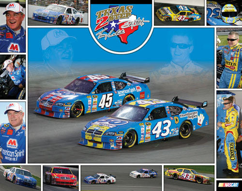 "Terry and Bobby Labonte ""Texas 2-Step"" NASCAR Racing Poster - Time Factory 2008"
