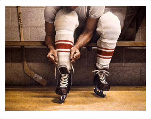 Lacing Up by Ken Danby Hockey Art Poster Print - Danby Studios