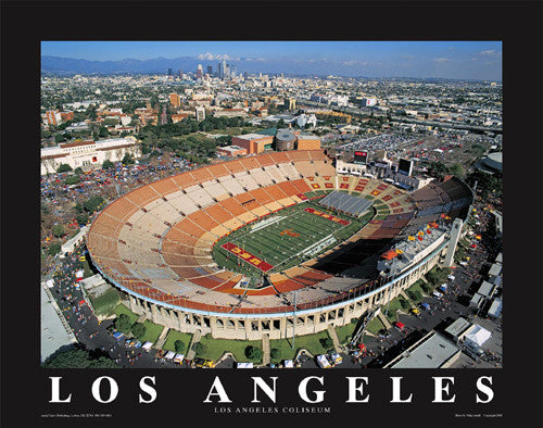 "Los Angeles Memorial Coliseum ""From Above"" Poster - Aerial Views Inc."