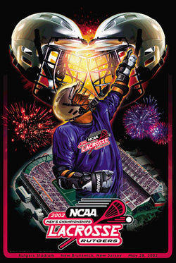 NCAA Lacrosse Championships 2002 Official Event Poster - Action Images Inc.