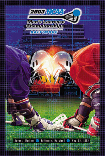 NCAA Lacrosse Championships 2003 Official Event Poster - Action Images Inc.