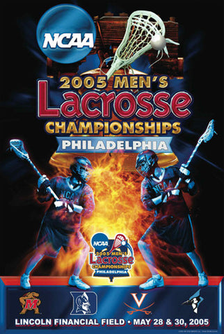 NCAA Lacrosse Championships 2005 Official Event Poster - Action Images