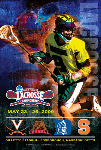 NCAA Lacrosse Championships 2009 Official Event Poster - Action Images Inc