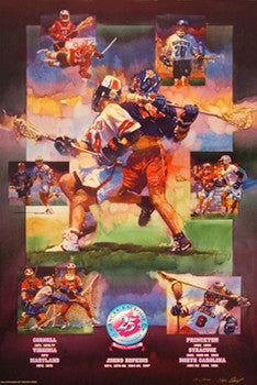 NCAA Lacrosse Championships 1995 Official Event Poster - Action Images