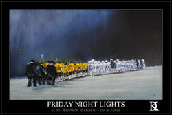 "Lacrosse ""Friday Night Lights"" Poster Print - Kenneth Delgatto 2011"