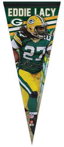 "Eddie Lacy ""Signature Series"" Green Bay Packers Premium NFL Felt Pennant - Wincraft Inc."
