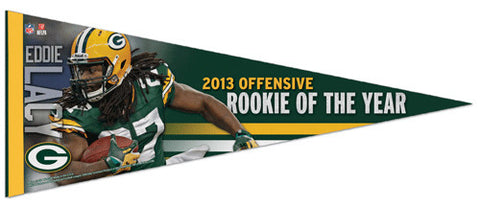 Eddie Lacy 2013 NFL Rookie of the Year Green Bay Packers Premium Felt Pennant - Wincraft