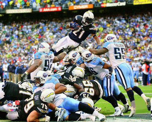 "LaDainian Tomlinson ""4th-and-1"" (2008) San Diego Chargers Premium Poster Print - Photofile Inc."