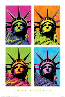 "Statue of Liberty ""Lady Liberty"" Andy Warhol-Style Premium Poster Print - Portal Publications 2003"
