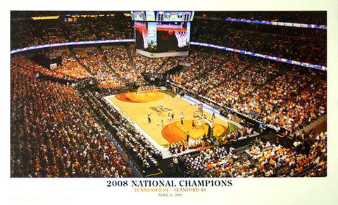 Tennessee Lady Vols Basketball 2008 National Champions Panoramic Poster Print