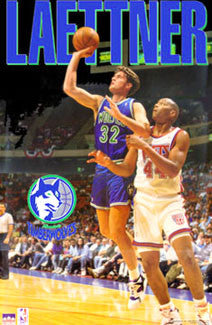 "Christian Laettner ""NBA Action"" Minnesota Timberwolves Poster - Starline 1993"
