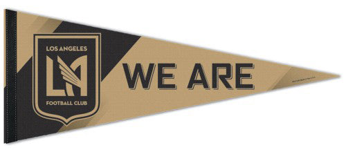 "Los Angeles FC LAFC ""We Are"" Official MLS Soccer Team Premium Felt Pennant - Wincraft Inc."