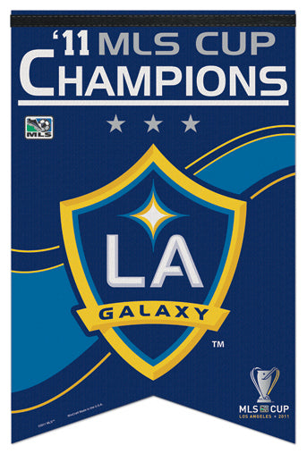 Los Angeles Galaxy 2011 MLS Soccer Champions Commemorative Banner - Wincraft Inc.