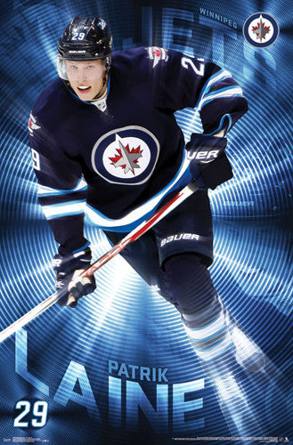 "Patrick Laine ""Superstar"" Winnipeg Jets Official NHL Hockey Poster - Trends International 2016"