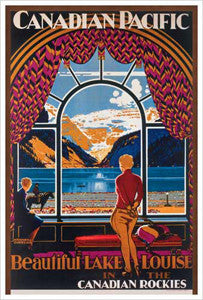 "Canadian Pacific Railway ""Lake Louise Picture Window"" (1930) Poster Reprint - Eurographics"