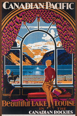 "Canadian Pacific Railway ""Lake Louise Picture Window"" (1930) 24""x36"" Poster Reprint - Eurographics"