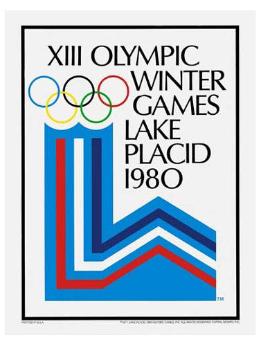 Lake Placid 1980 Winter Olympic Games Official Poster Reprint - Olympic Museum