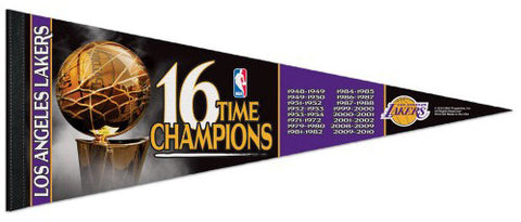 Los Angeles Lakers 16-Time NBA Champions Premium Felt Collector's Pennant - Wincraft Inc.