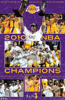 "Los Angeles Lakers ""CELEBRATION 2010"" NBA Championship Poster - Costacos Sports"