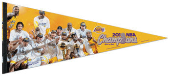 L.A. Lakers 2010 Champions Team Portrait EXTRA-LARGE Premium Pennant