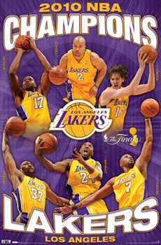 Los Angeles Lakers 2010 NBA Champions Commemorative Poster - Costacos Sports