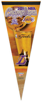 L.A. Lakers 2010 NBA Champions Commemorative Pennant - Wincraft